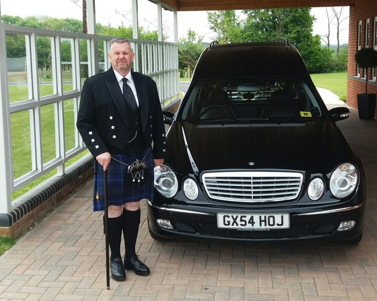 Scottish CEC Funeral Director looking very smart