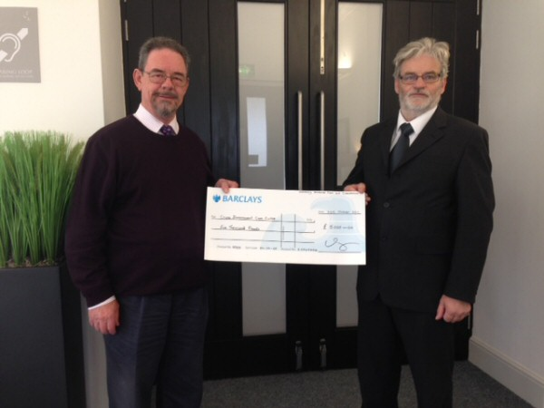 Suffolk Cruse Cheque Presentation